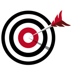 arrow hitting target business concept vector image