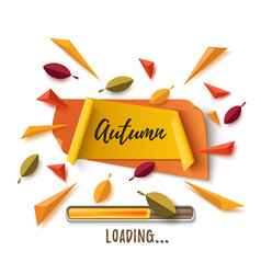 autumn banner with abstract leafs on white vector image