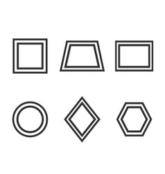 Basic geometric shapes icon set vector