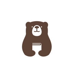 bear book logo icon vector image