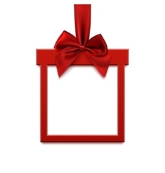 Blank square banner in form of christmas gift vector