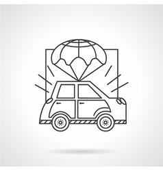 Car body insurance line icon vector image