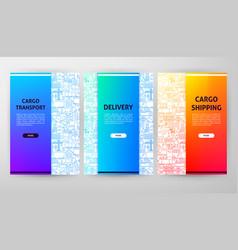 Cargo web design vector