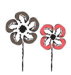 Cartoon flower vector image