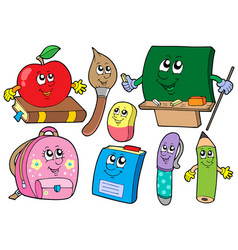 cartoon school collections vector image