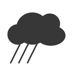 Cloud shape with rain vector