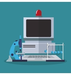 Colorful computer and laboratory design vector