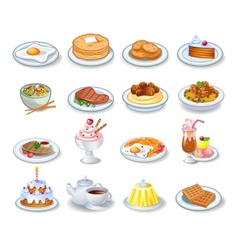 Computer icons of various dishes vector