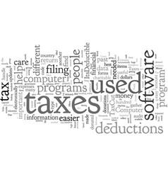 Computer software for taxes vector