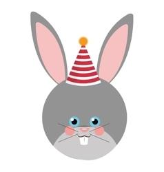 Cute rabbit flat icon vector image