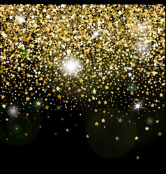 decorative poster with bright glitter stars vector image