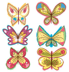 Diferent-butterflies vector