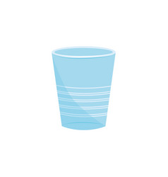 disosable cup blue icon recycling plastic vector image