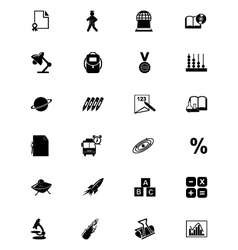 Education solid icons 3 vector
