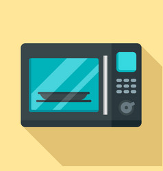 Electric microwave icon flat style vector