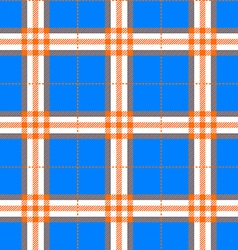 Fabric texture in a square pattern seamless blue vector