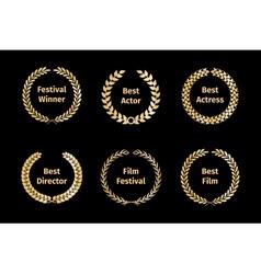 Film awards wreaths vector image
