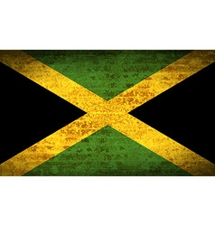 Flags Jamaica with dirty paper texture vector image