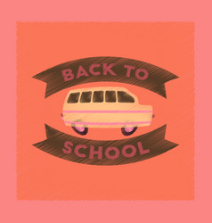 Flat shading style icon back to school bus vector