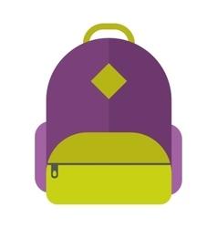 flat sport backpack vector image