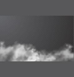 fog or smoke on transparent background vector image