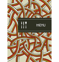 Fork knife and spoon vintage menu cover design vector image