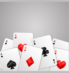 Four aces playing cards suits vector