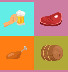four images at octoberfest vector image