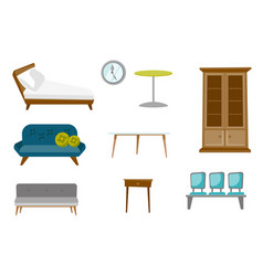 furniture cartoon set vector image