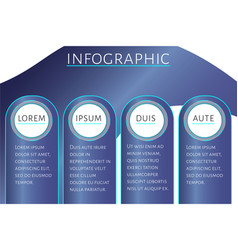 futuristic infographic template with 4 options vector image