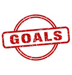 Goals grunge stamp vector