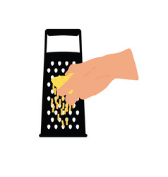 Grater with woman hand vector