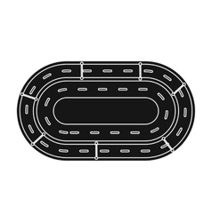 Hippodrome icon in black style isolated on white vector