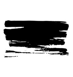 Horisontal dry brush stroke black color easy to vector