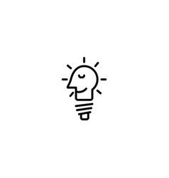 idea bulb icon vector image