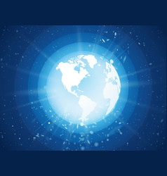 internet concept of global business blue planet vector image