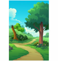landscape forest daytime so beautiful vector image