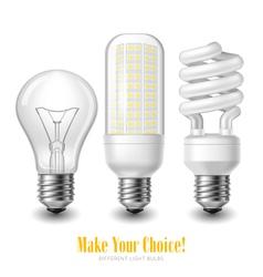 Led lightbulb set vector