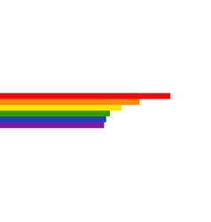 lgbtq rainbow stripe vector image