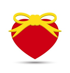 Love Heart with Ribbon Bow vector image