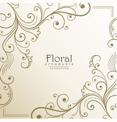 Lovely floral background design vector