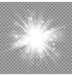 Magic white rays glow light effect isolated vector