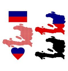 Map of Haiti vector
