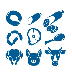 meat food signs vector image