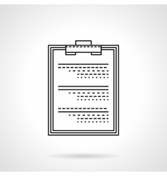 Medical exam flat thin line icon vector