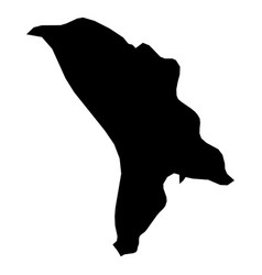 moldova - solid black silhouette map of country vector image