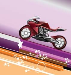 motorcycle image vector image