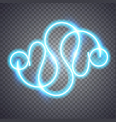 neon blurry line vector image