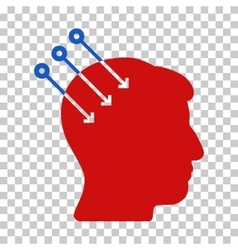 Neural interface connectors icon vector