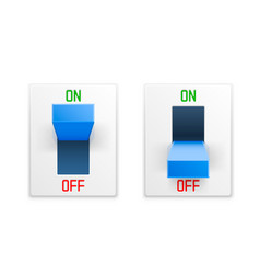 On off switch button ui isolated white background vector
